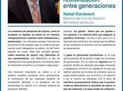 Rafael Doménech Columna de Opinión sobre las Pensiones y la Redistribución entre Generaciones