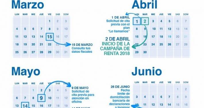 Infografía Calendario Campaña Renta 2018 | Instituto santalucía