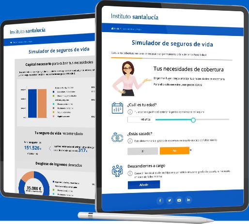 Ipad Simulador de seguros de vida