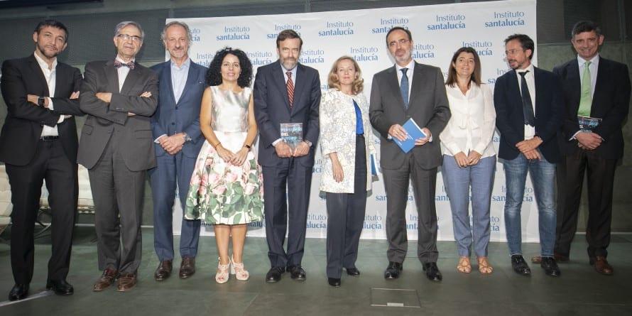 Nadia Calviño preside la presentación del primer libro colaborativo sobre el futuro de las pensiones