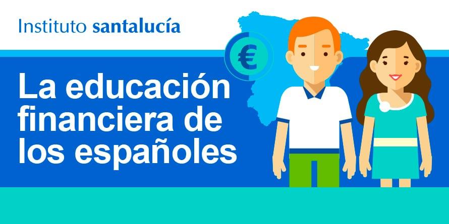 Infografía «La educación financiera de los españoles»